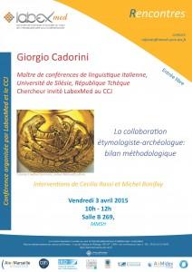 Affiche conférence Giorgio Cadorini
