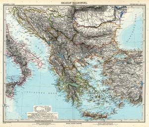 Les balkans au 19e siècle. Domaine Public